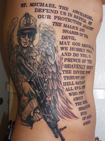 Tattoo of Michael Monsoor